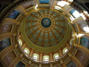 State Capitol, Lansing, MI - There is no place like HOMES... Huron, Ontario, Michigan, Erie and Superior. They are the jewels that surround us.